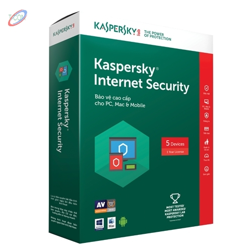 PM diệt virus Kaspersky Internet Security-5 PC / BQ 1 Năm